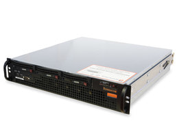 2HE Intel Dual-CPU SC825M Server - Serveransicht