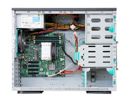 Server-Tower Intel Single-CPU SR105 Silent - Innenansicht