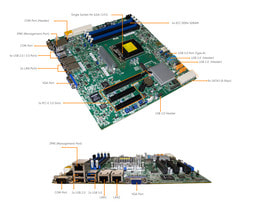 3HE Intel Single-CPU RI1316 Server - Mainboardbeschriftung Supermicro