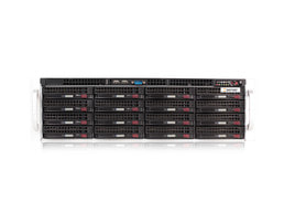 3HE Intel Single-CPU RI1316 Server - Frontalansicht