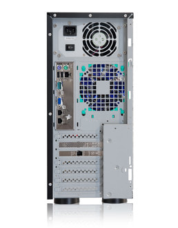 Server-Tower Intel Single-CPU SR105 Silent - Rückansicht