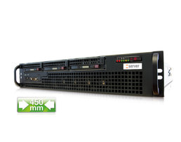 2HE Intel Single-CPU RI1203H Server - Frontansicht